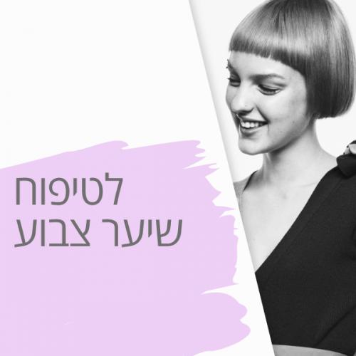 טיפוח וטיפול בשיער צבוע
